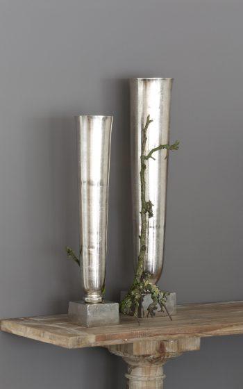 Dekoration, Vase silber