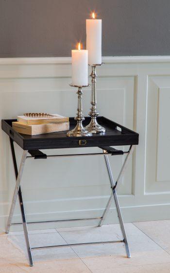 Stehtablett und Kerzenständer