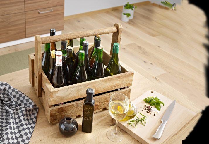 Flaschenständer in Holz